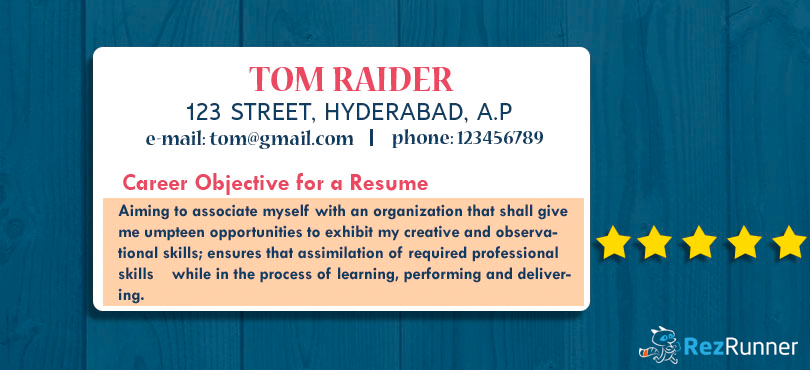 Importance of Career Objective for a Resume