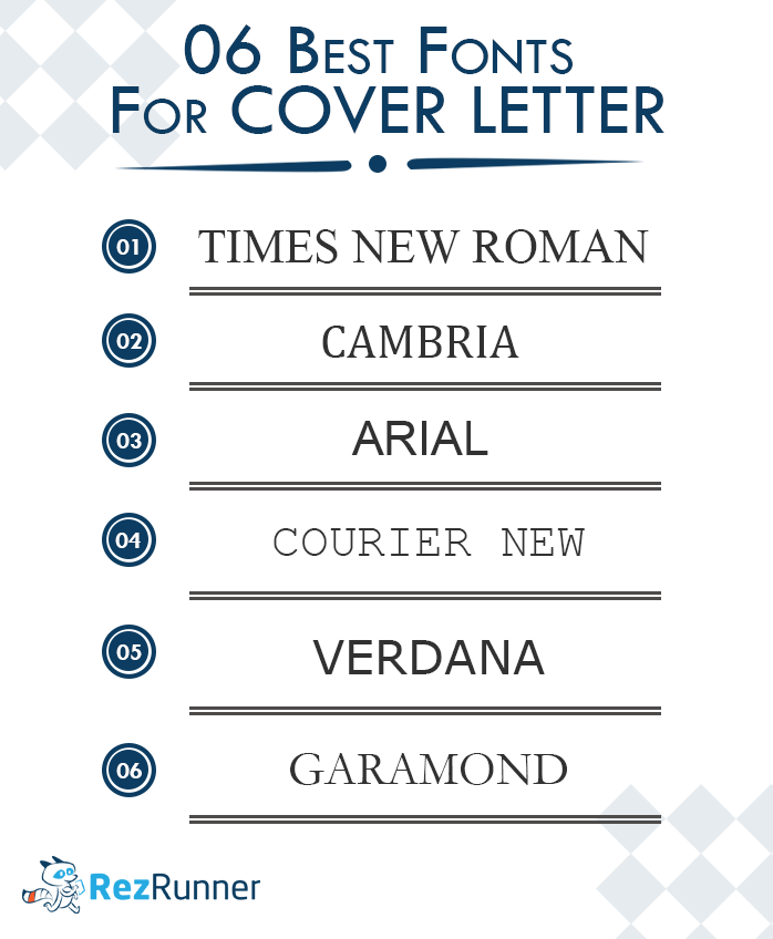 best used fonts for cover letter