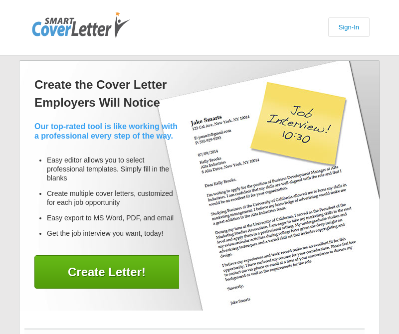 Top 5 Cover Letter creators and their reviews   Rezrunner