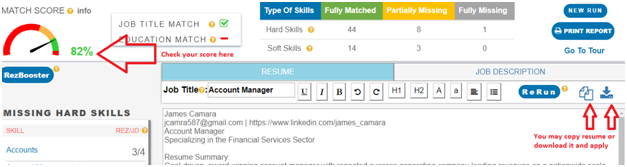 Find Match Score of your Resume